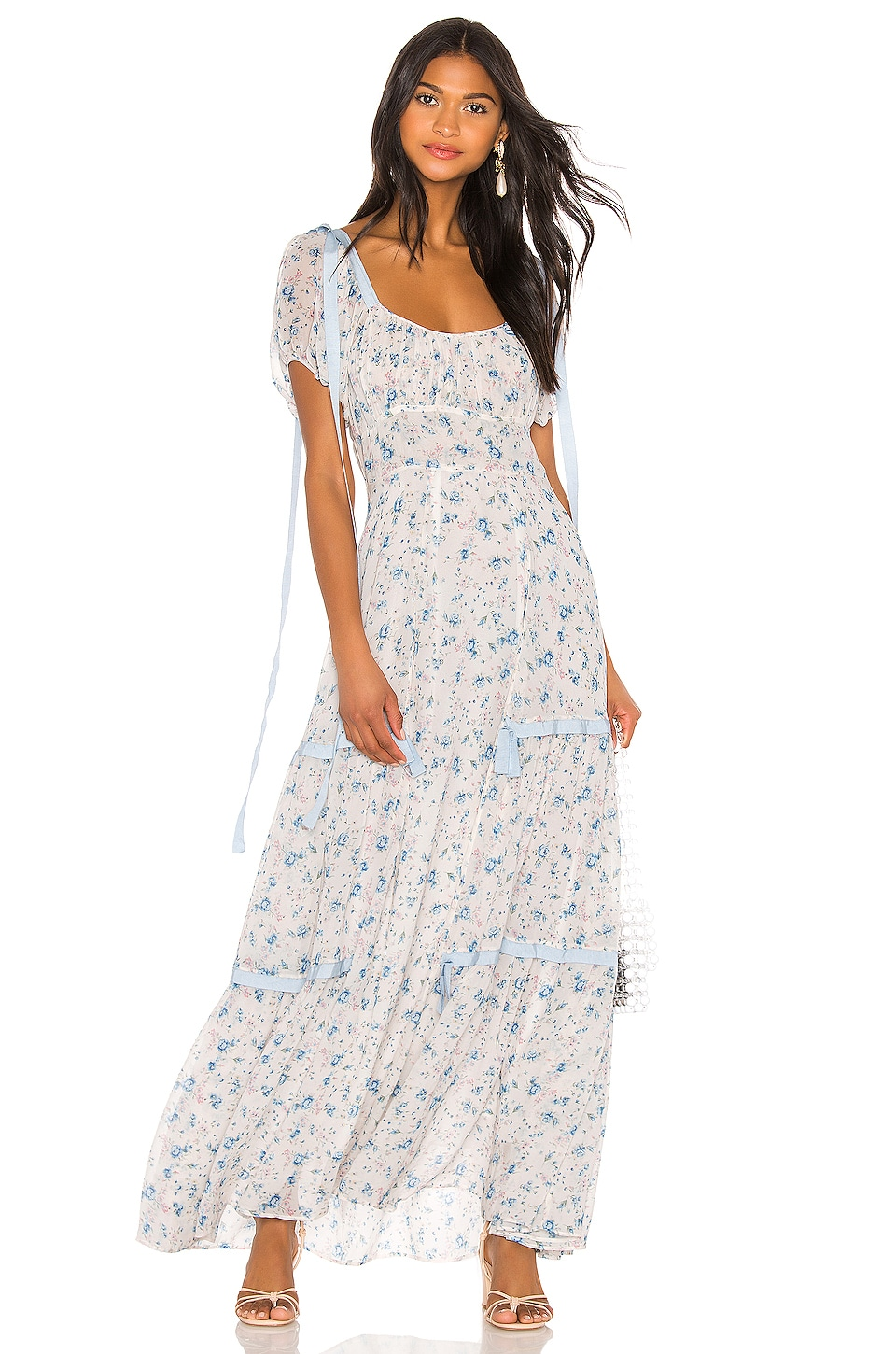 LoveShackFancy Jessie Dress in Pearl River