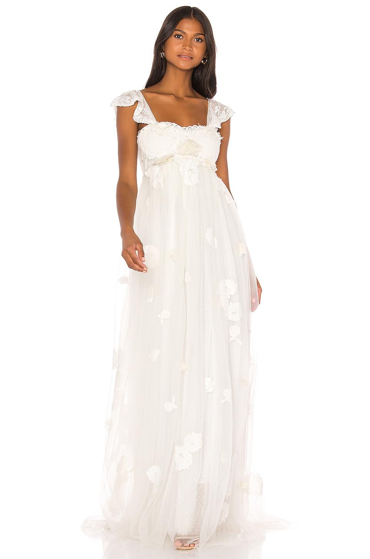 LoveShackFancy Irene Gown in White