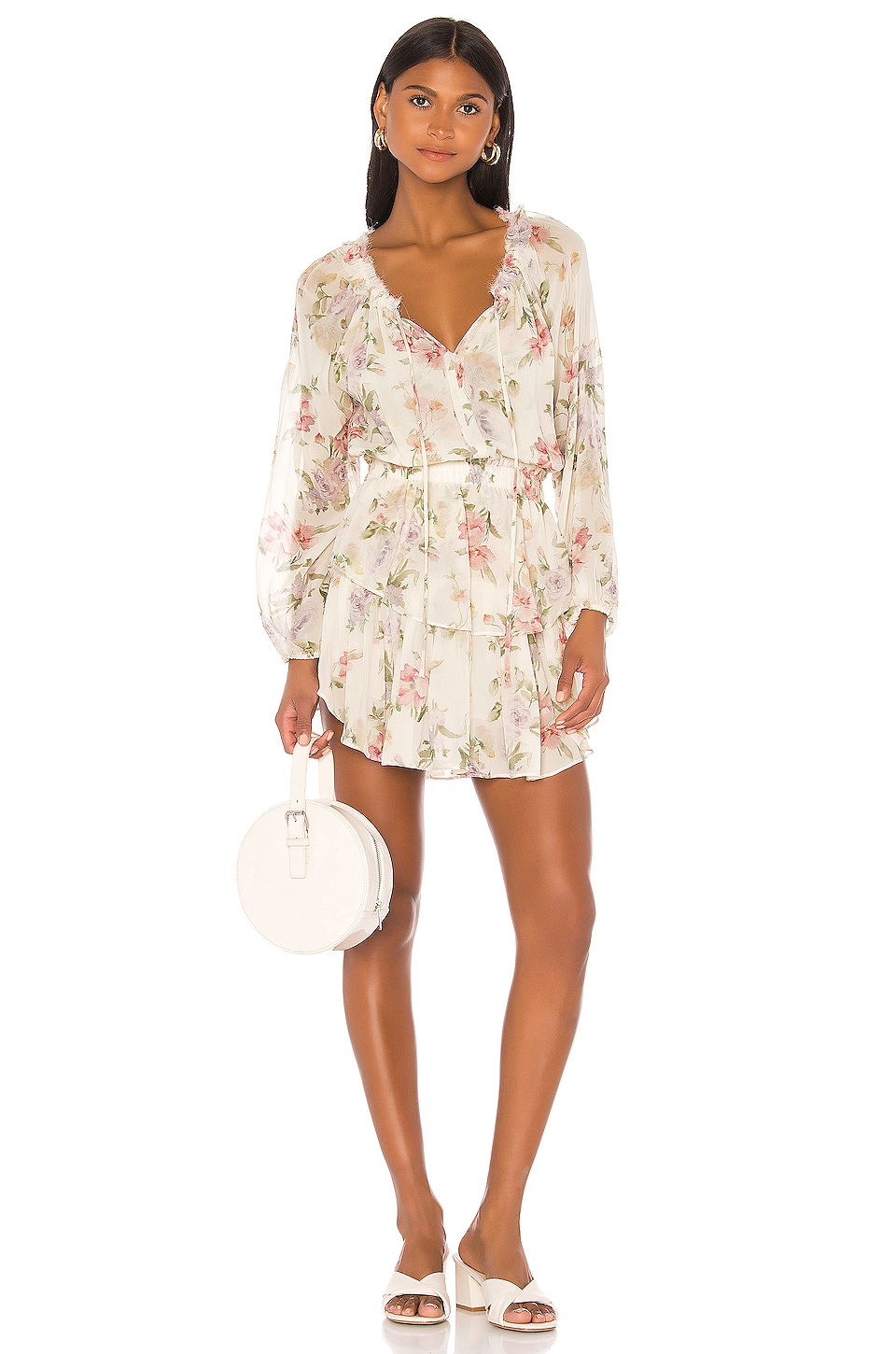 LoveShackFancy Popover Dress in Almond