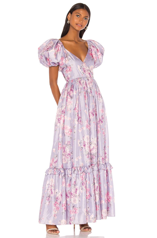 LoveShackFancy Ida Dress in Hibiscus