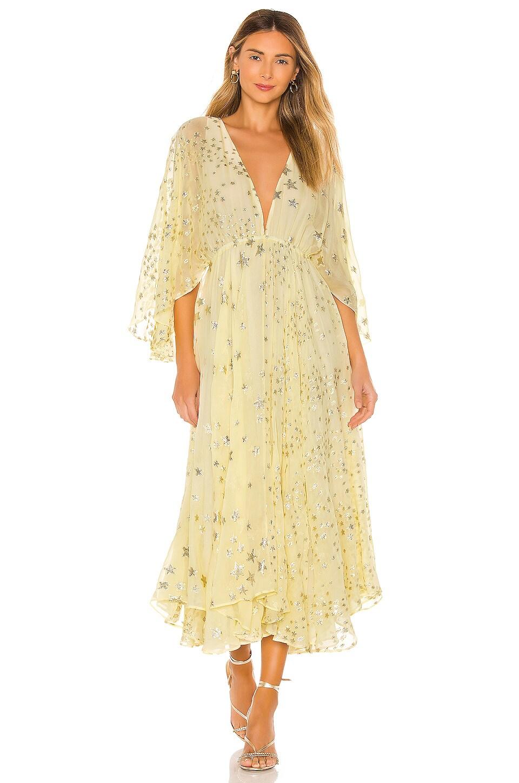 LoveShackFancy Solana Dress in Sunflower