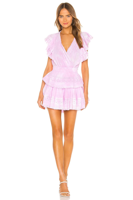 LoveShackFancy Gwen Dress in Peony Pink