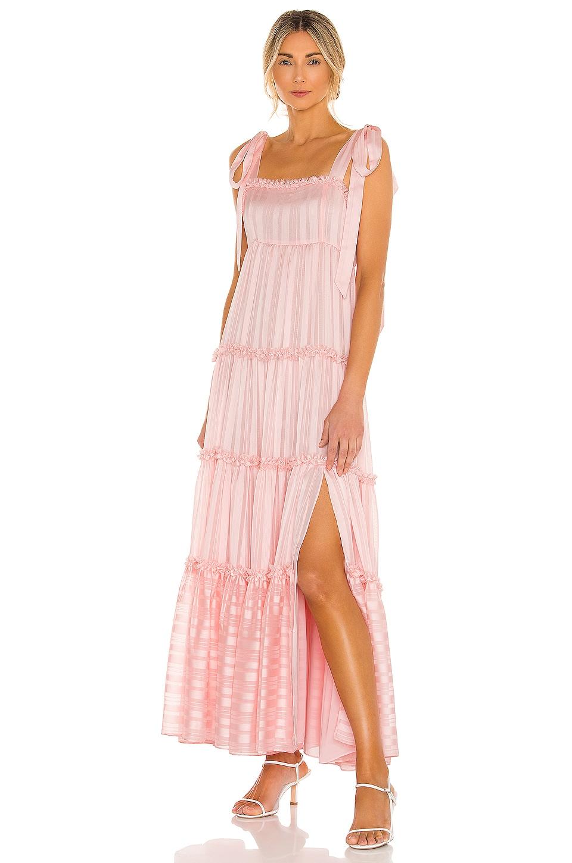 LoveShackFancy Burrows Dress in Pale Pink Dogwood