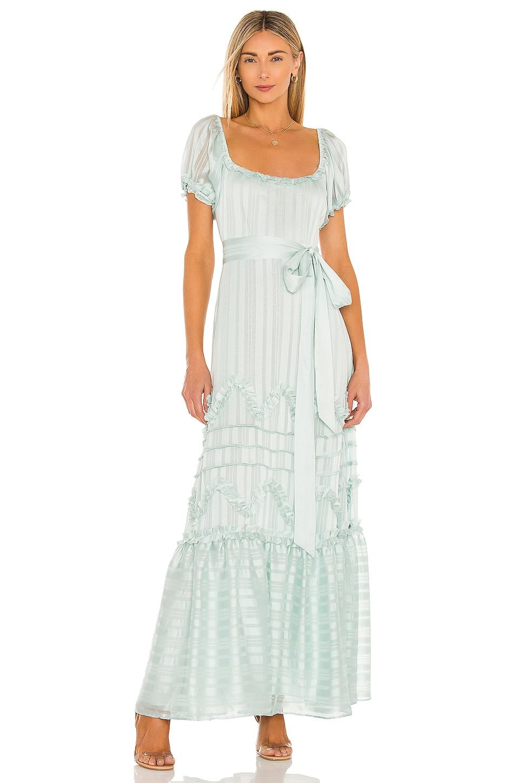 LoveShackFancy Sidonie Dress in Baby Blue
