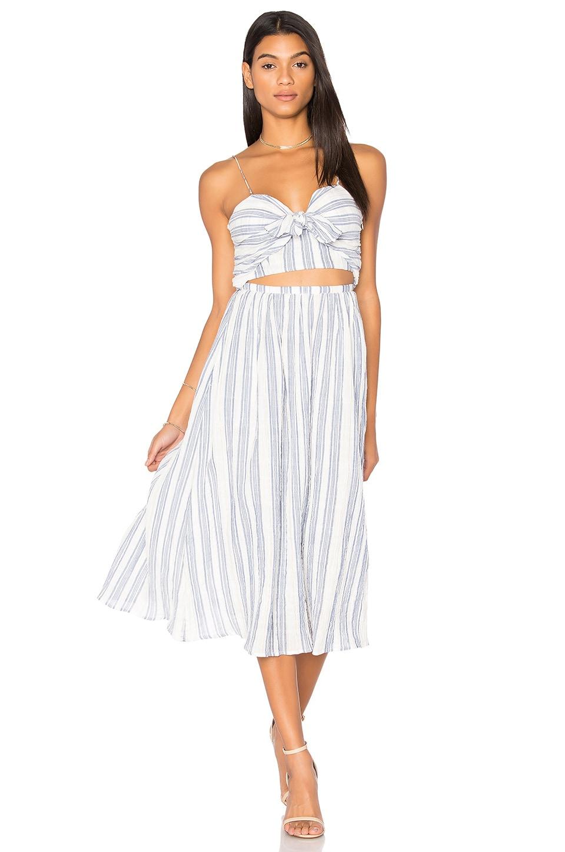 LoveShackFancy Jenna Dress in Blue & White