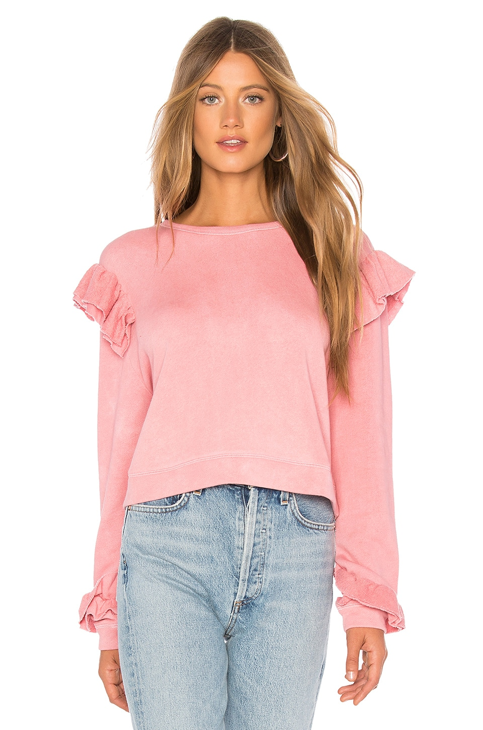 LoveShackFancy SWEAT RUFFLE