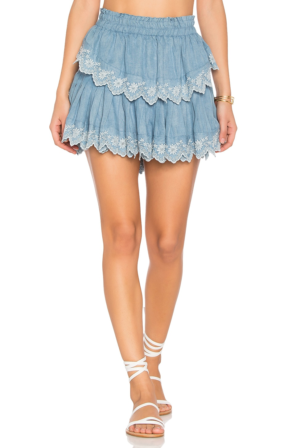 Ruffle Mini Skirt by Loveshackfancy