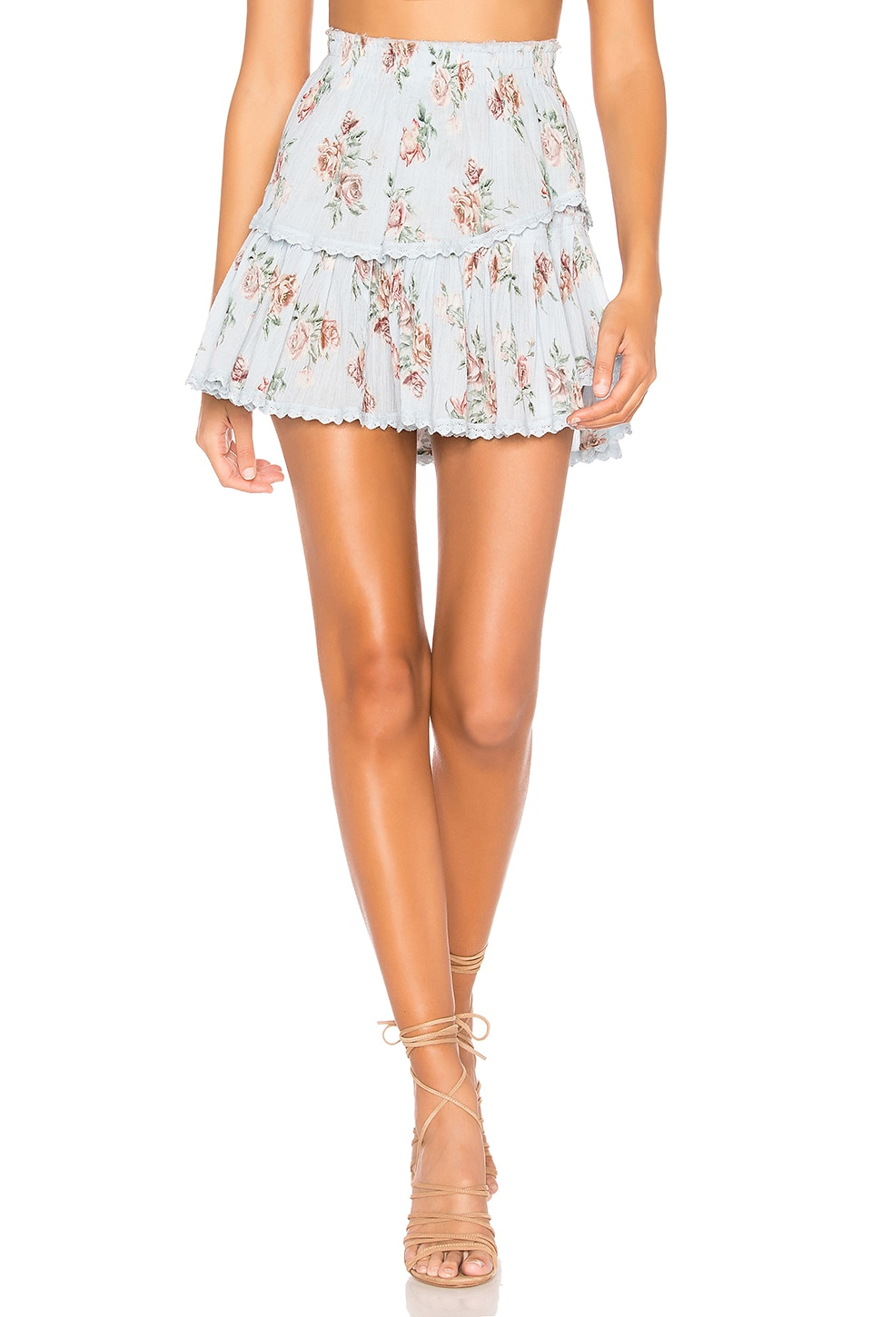 LoveShackFancy Ruffle Mini Skirt in Peri