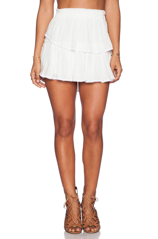 LoveShackFancy Ruffle Mini Skirt in White | REVOLVE