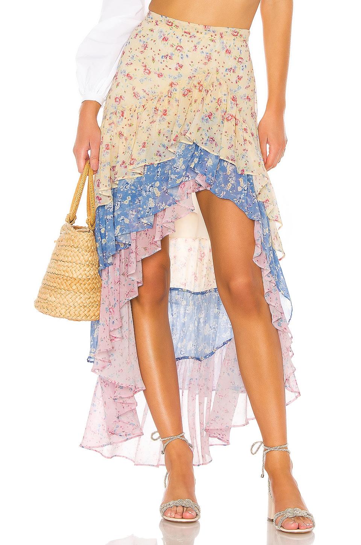 LoveShackFancy Lisette Maxi Skirt in Multi