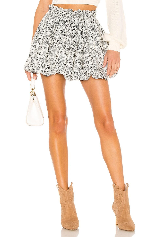 LoveShackFancy Cheyenne Skirt in Warm Grey