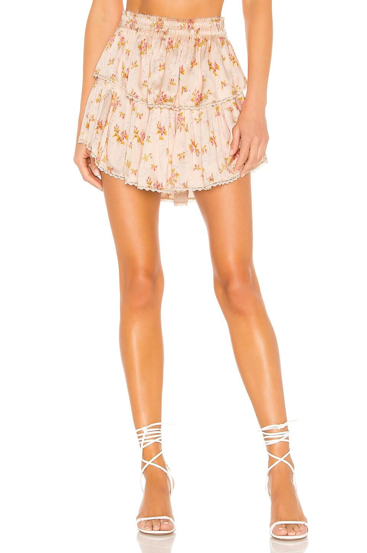 LoveShackFancy Ruffle Mini Skirt in Scallop Shell