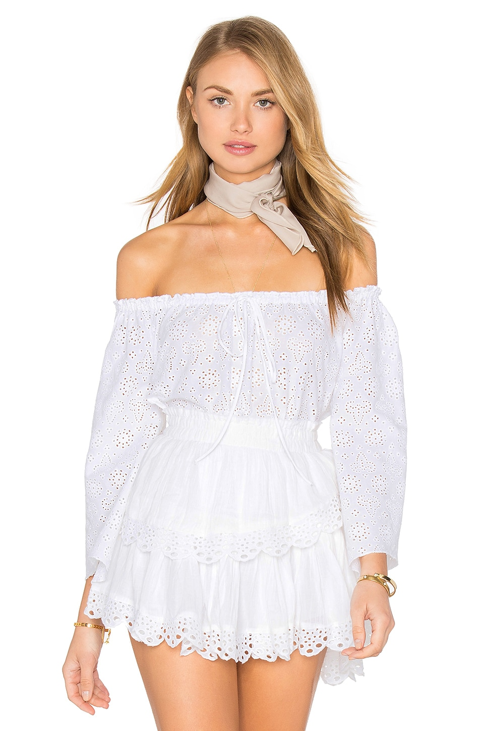LoveShackFancy Gypsy Top in White