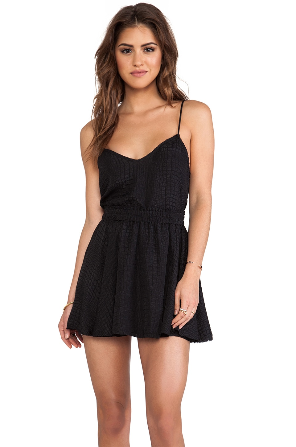 LoveShackFancy Crop Cami in Black