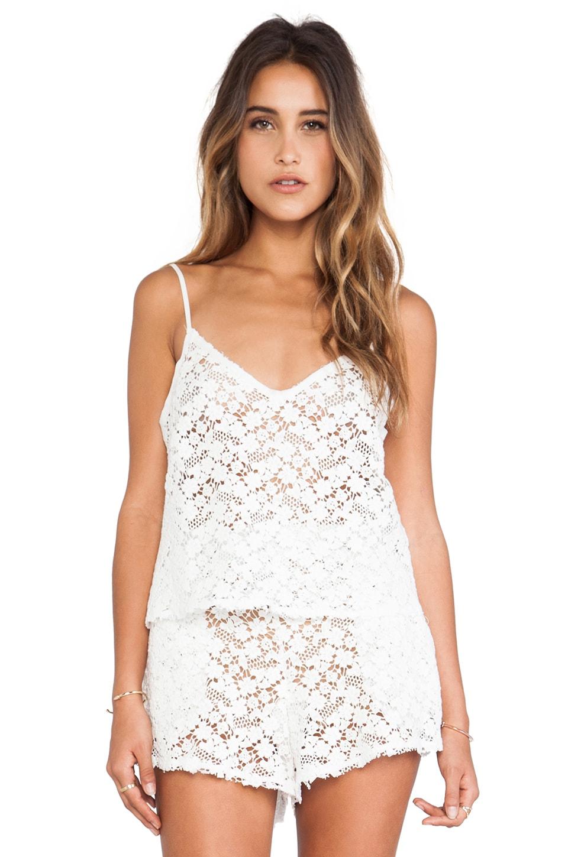 LoveShackFancy Lace Crop Cami in White