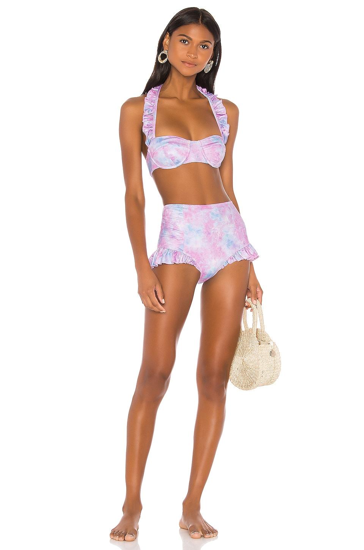 LoveShackFancy Kimberly Bikini Set in Cotton Candy