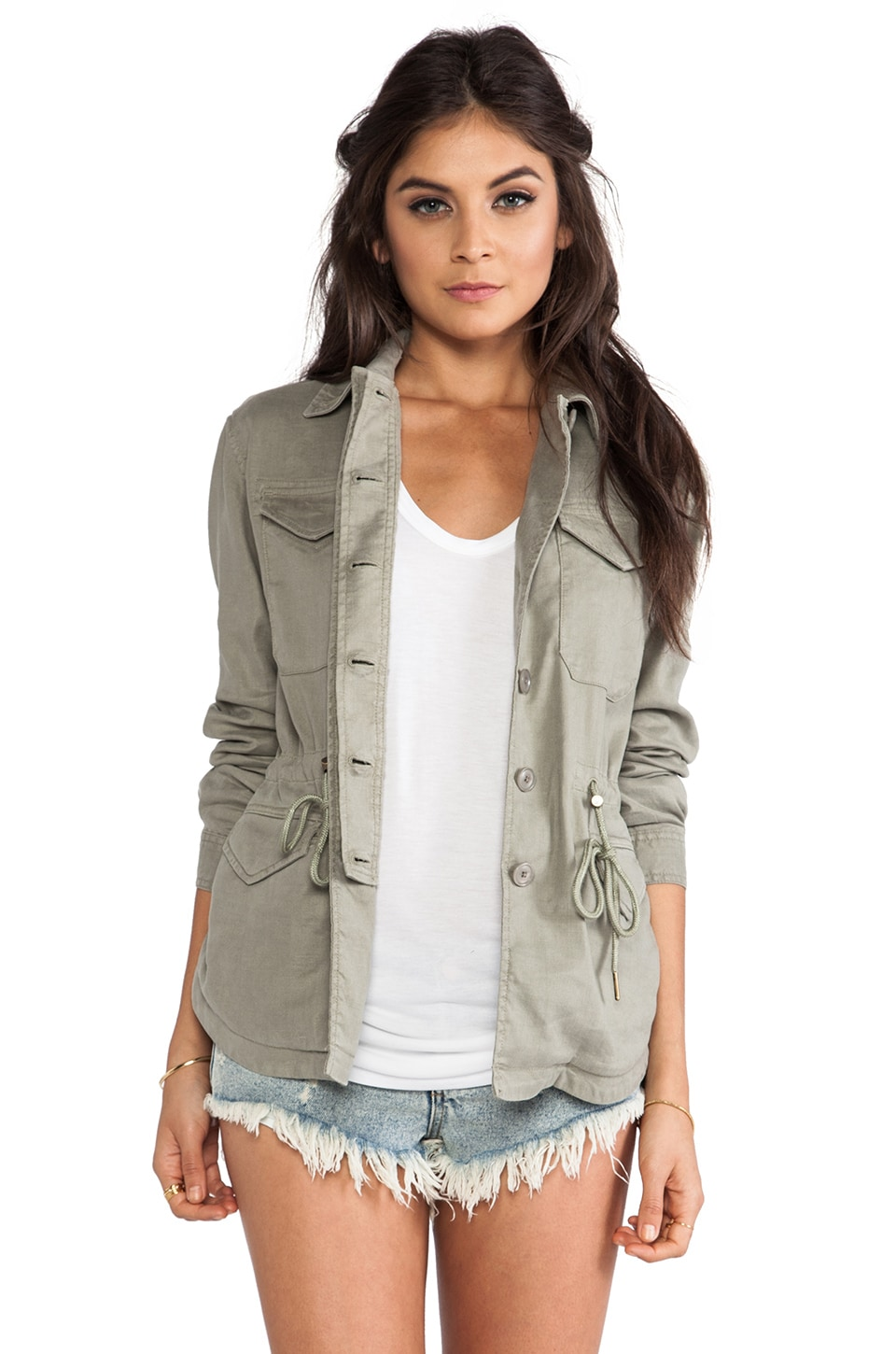 Level 99 Cargo Jacket in Combat Green