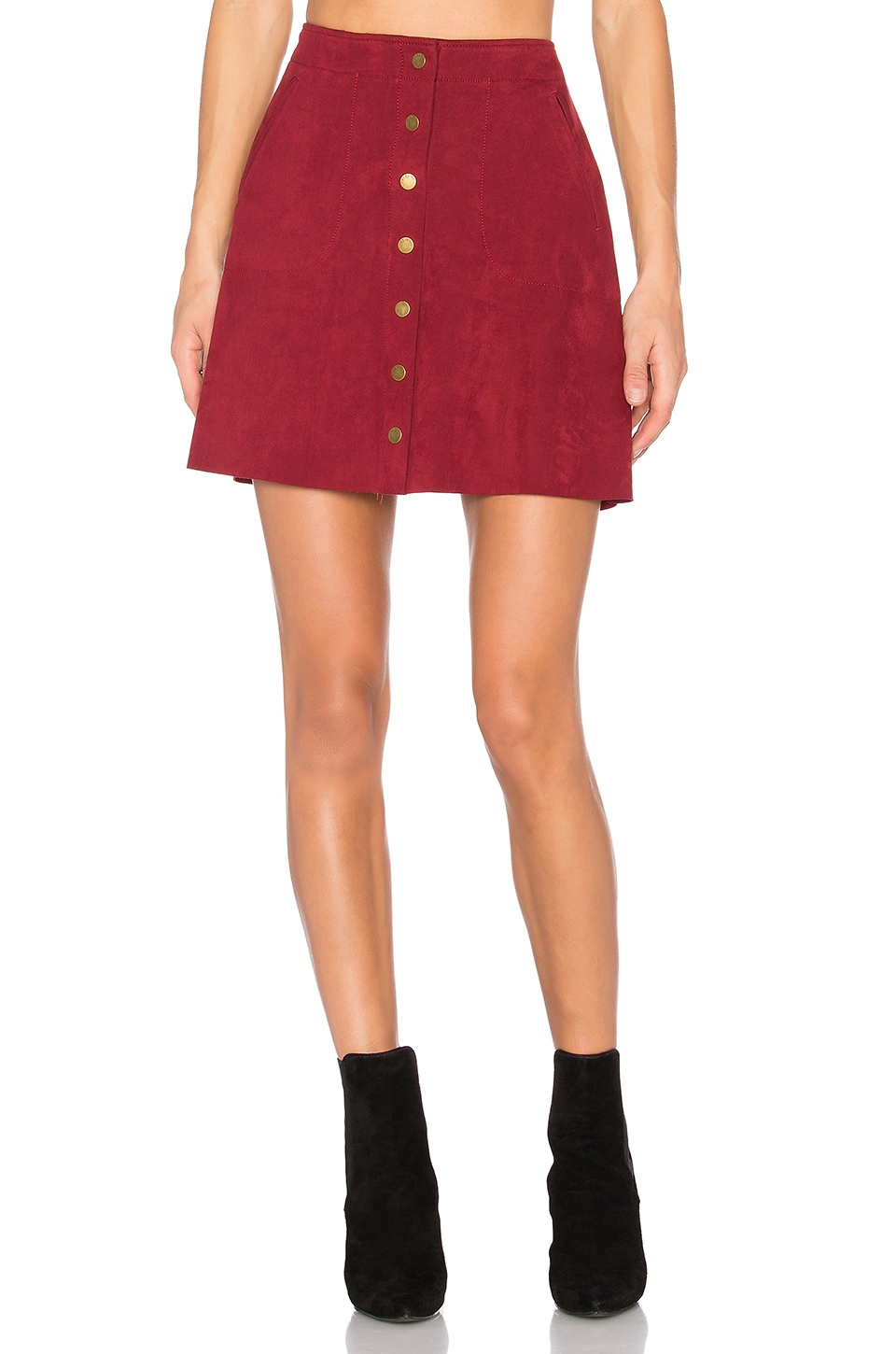 Level 99 Helen A-Line Skirt in Roselle