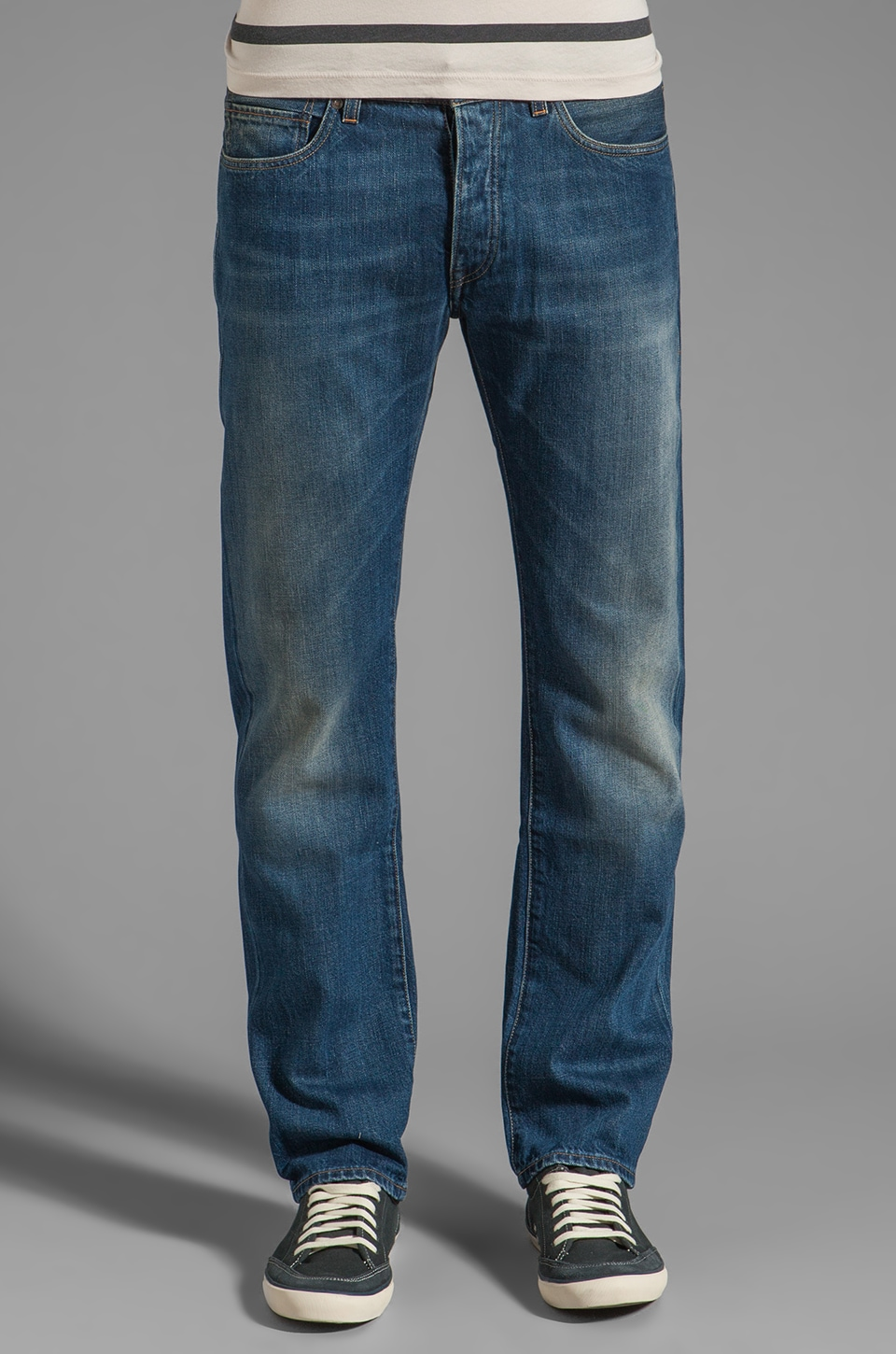 LEVI'S: Made & Crafted Ruler Straight Jeans in Wave