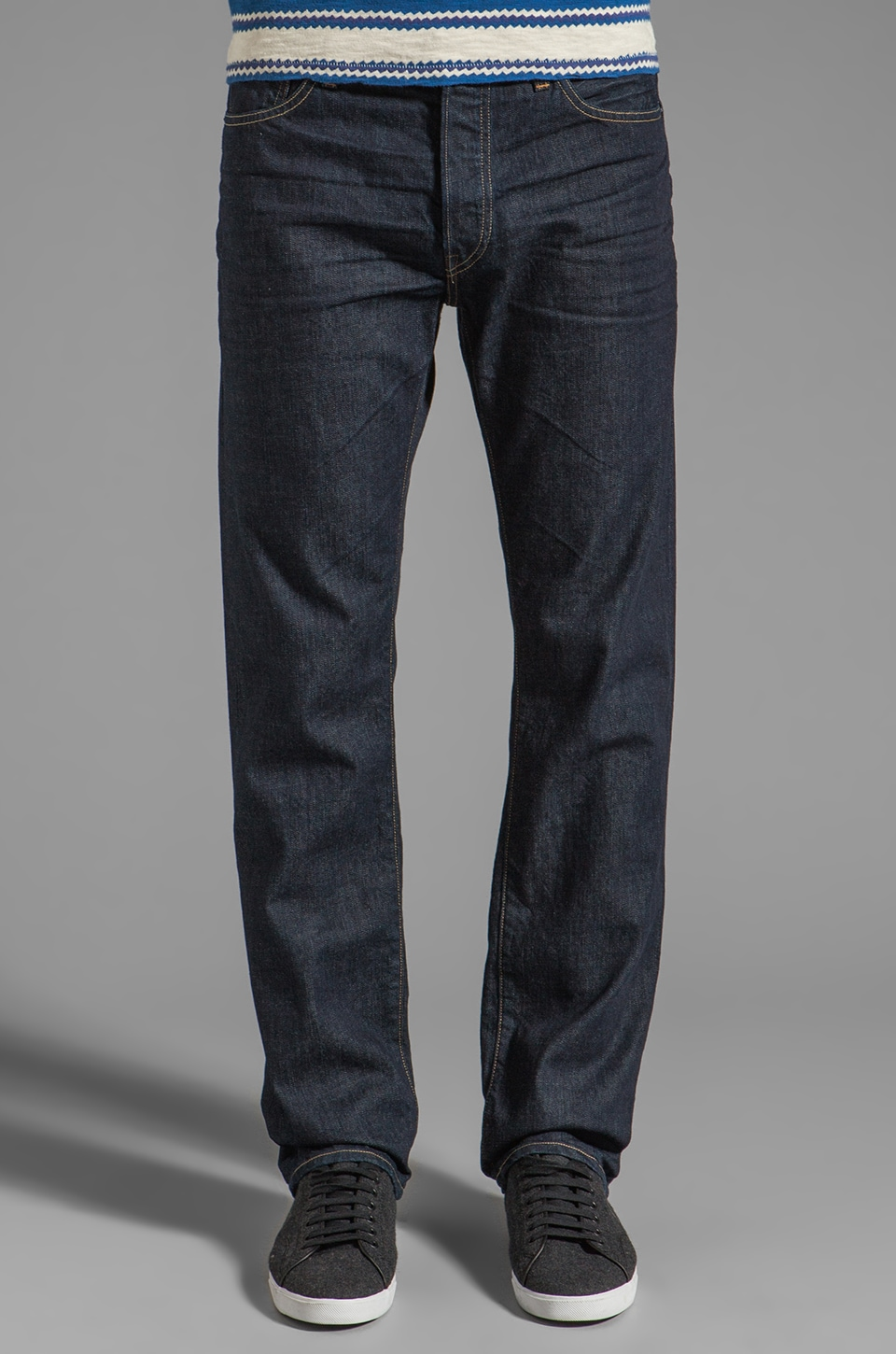 LEVI'S: Made & Crafted Ruler Straight Made in the USA Jeans in Crane