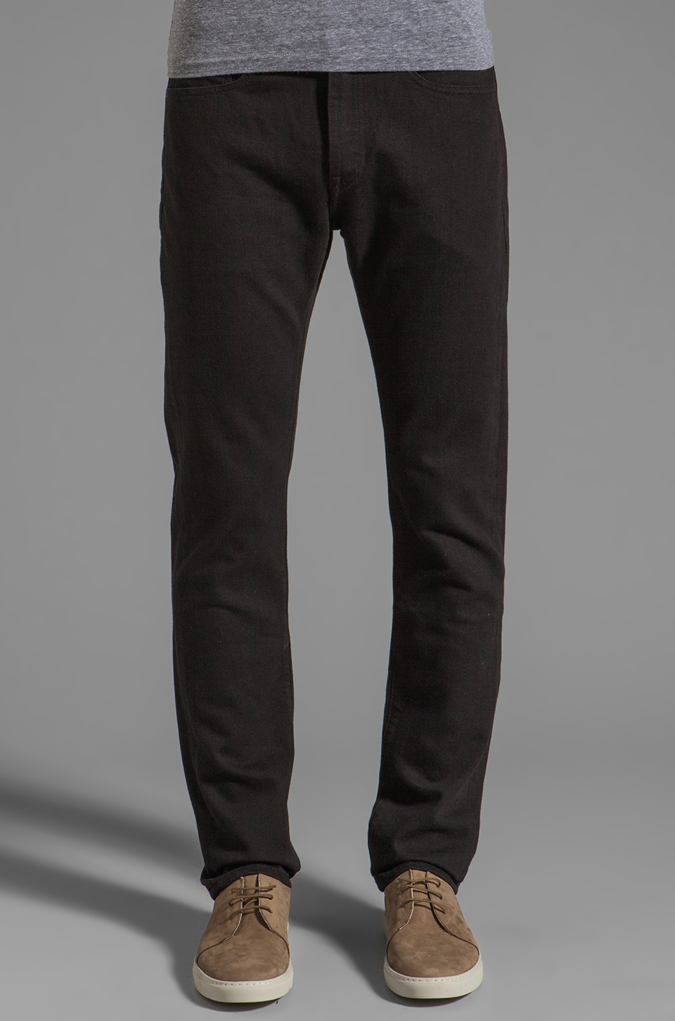 LEVI'S: Made & Crafted Tack Slim Jeans in Black Overdye