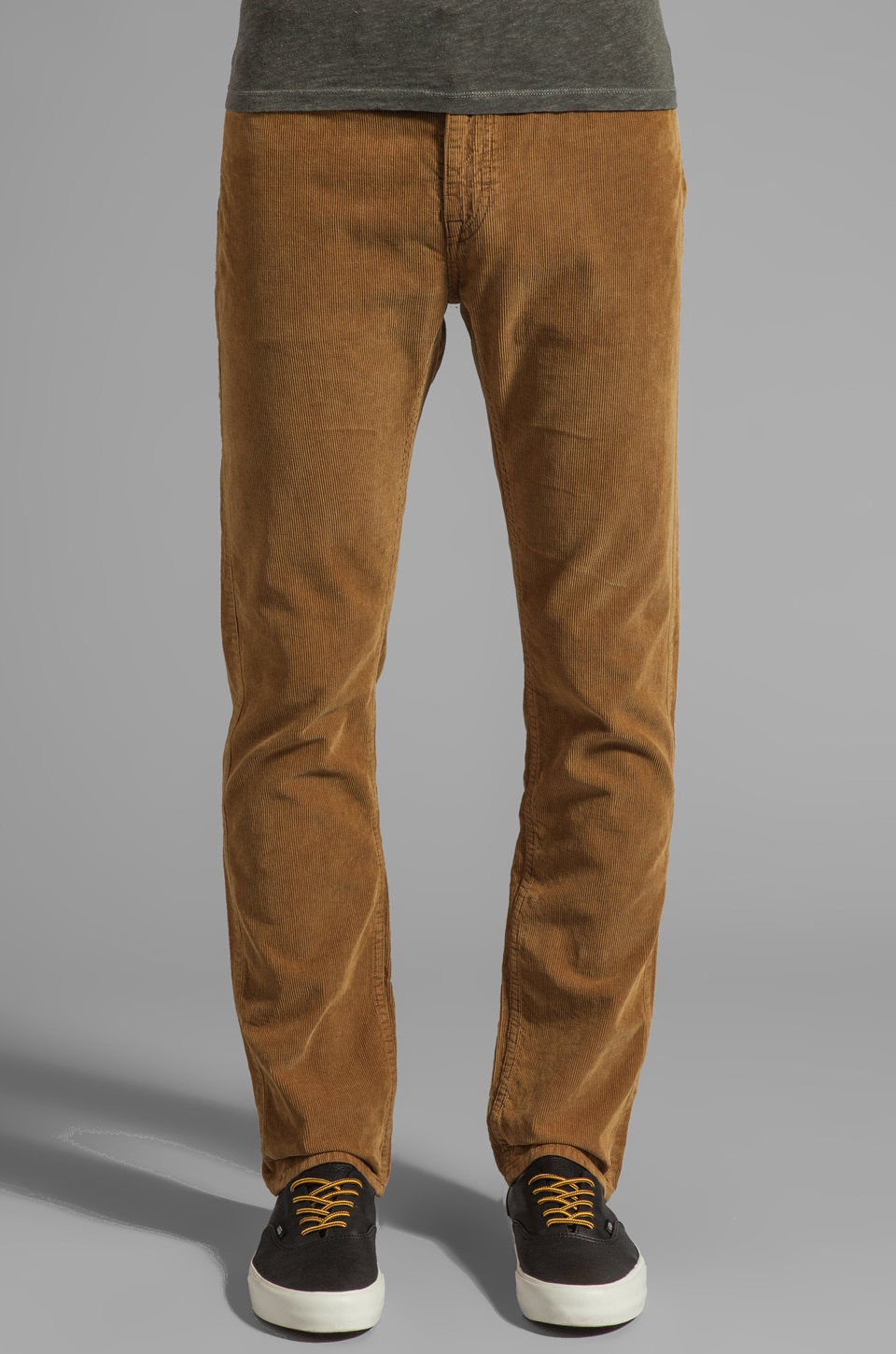 LEVI'S: Made & Crafted Tack Slim Cord in Bronze Brown