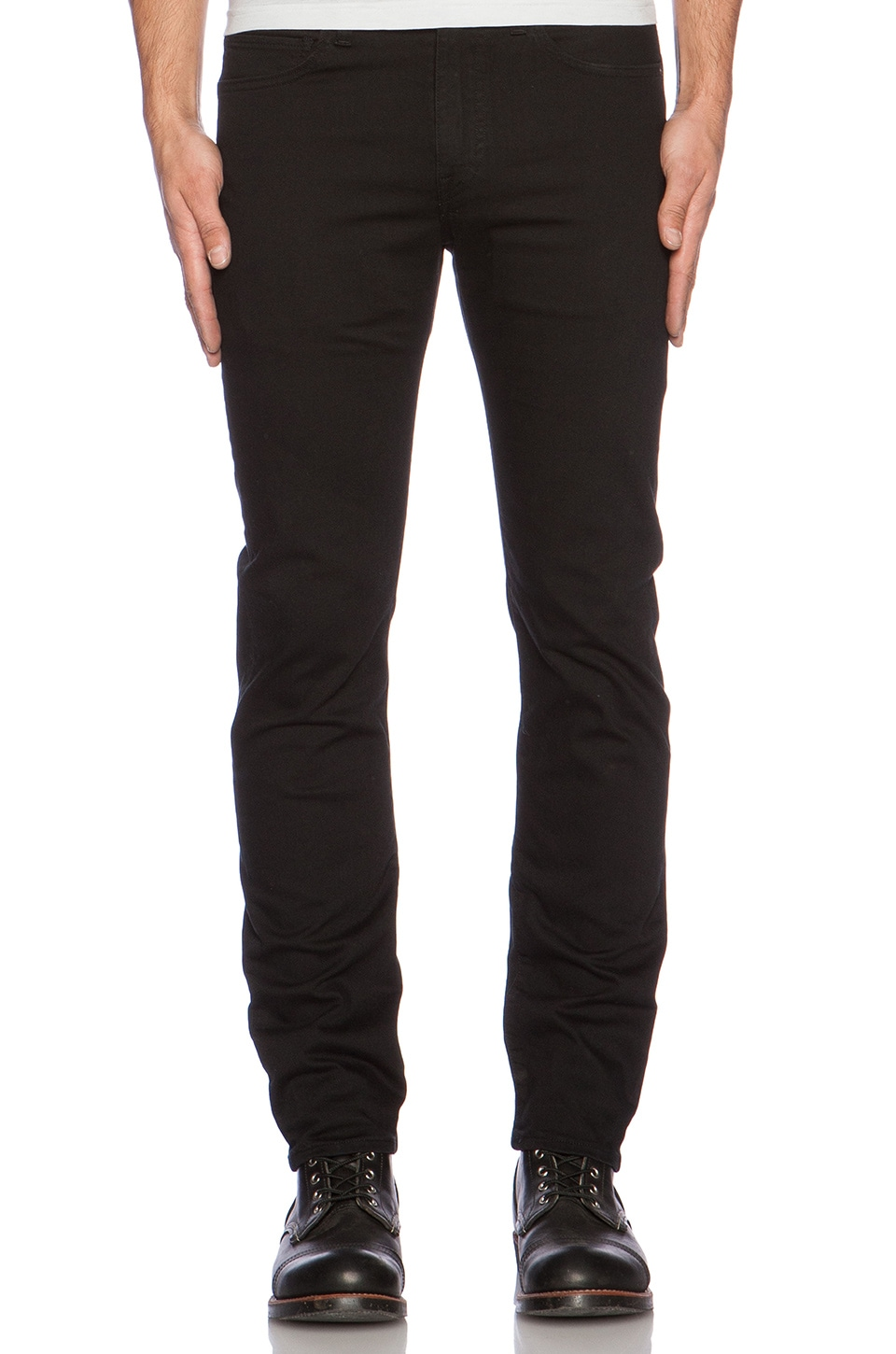 LEVI'S: Made & Crafted Needle Narrow in Clean Black