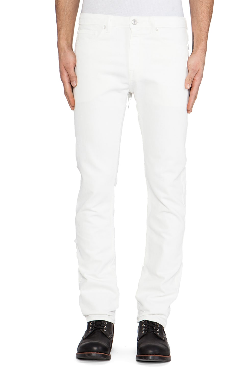 LEVI'S: Made & Crafted Tack Slim in White Wave