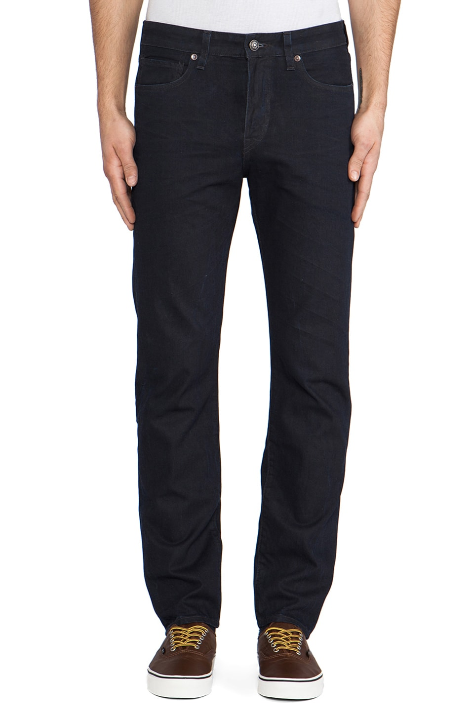 LEVI'S: Made & Crafted Needle Narrow in Stormy Black