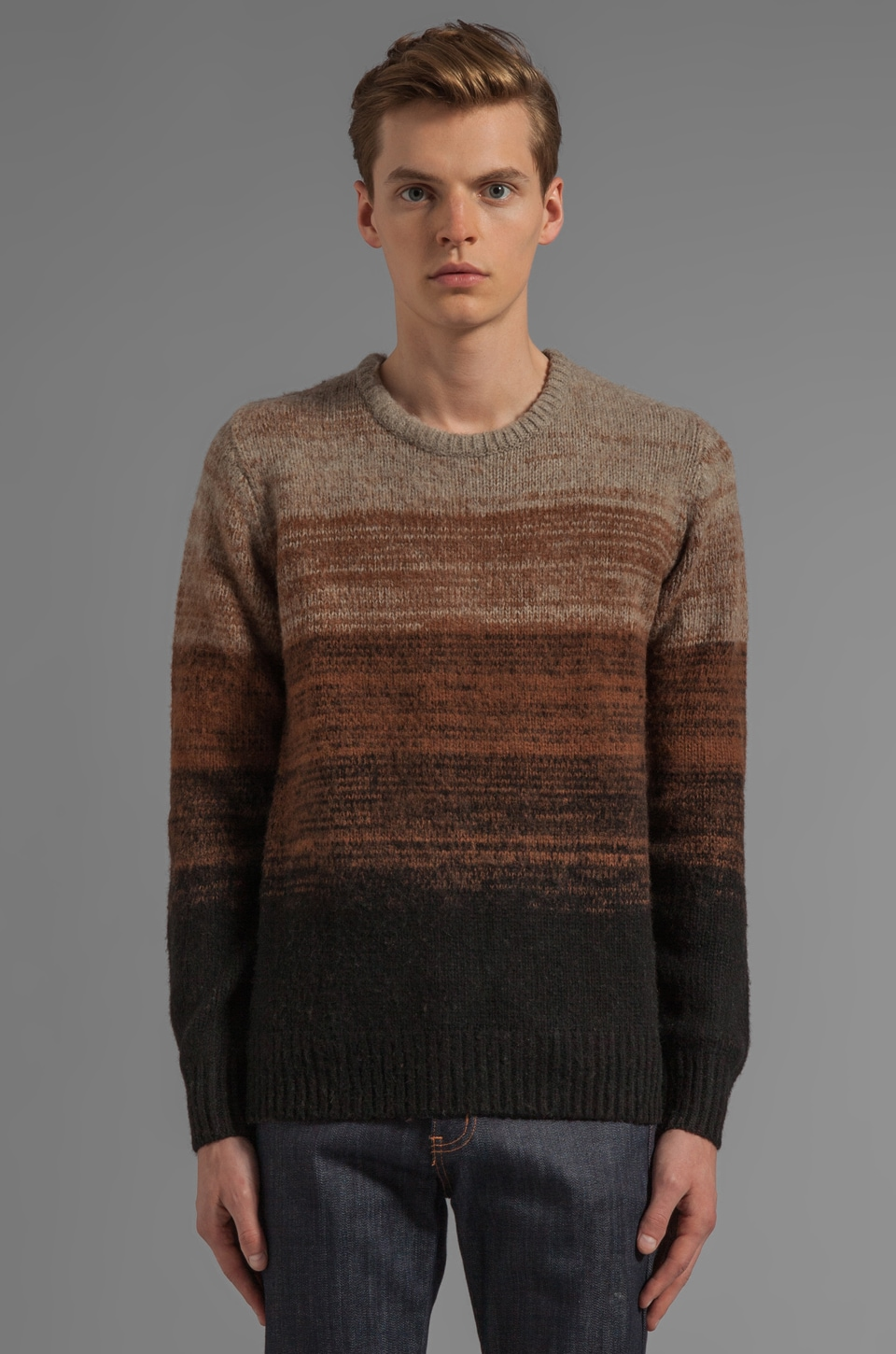 LEVI'S: Made & Crafted Gradual Crew in Brown Bronze
