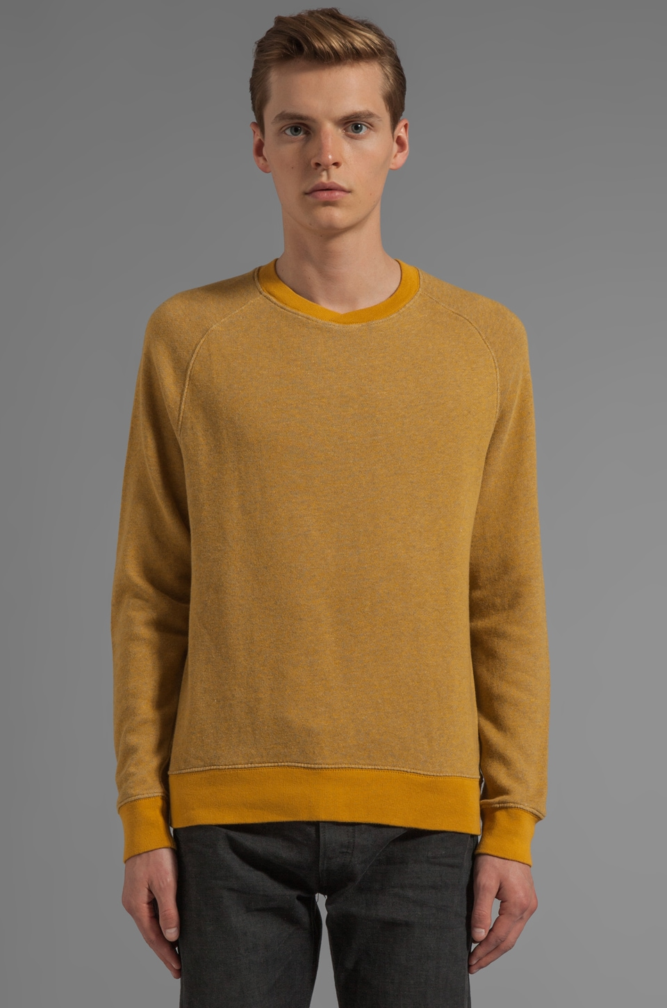 LEVI'S: Made & Crafted Crew Sweatshirt in Golden Spice