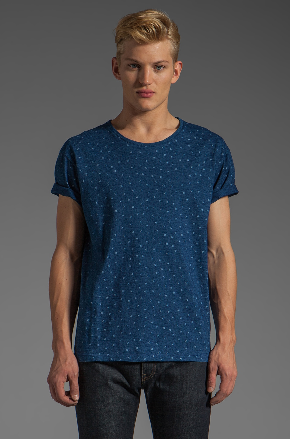 LEVI'S: Made & Crafted Bay Tee in Indigo Horseshoes