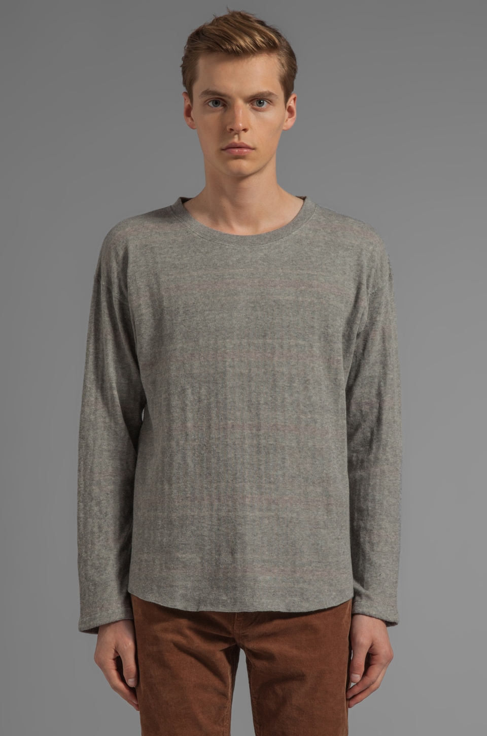 LEVI'S: Made & Crafted Reversible Baseball Tee in Grey Melee