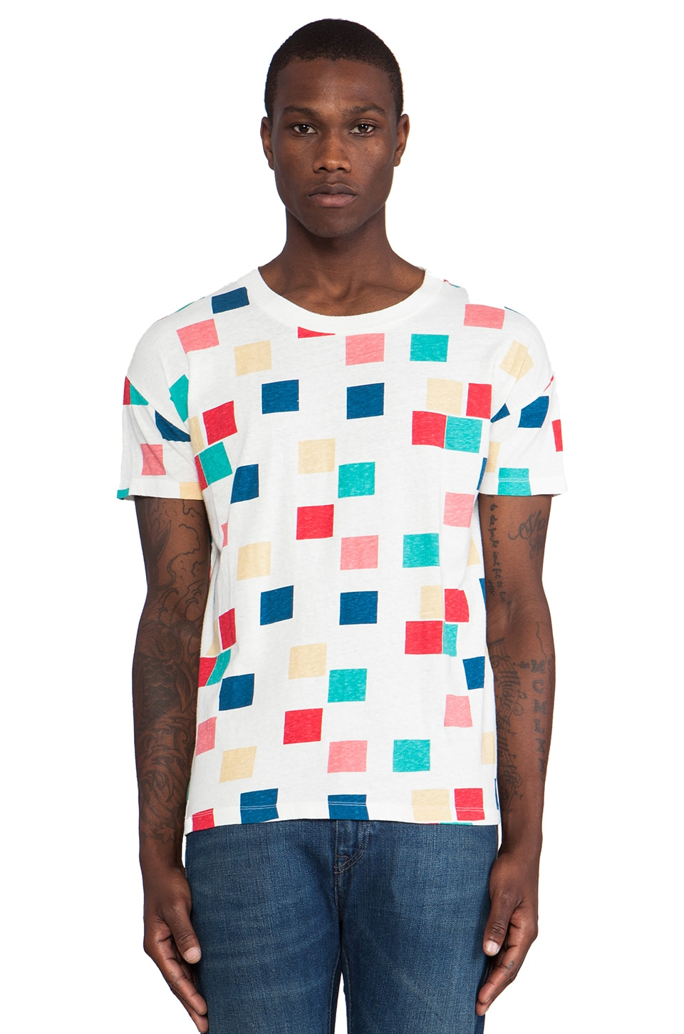 LEVI'S: Made & Crafted LMC Tee in Squares