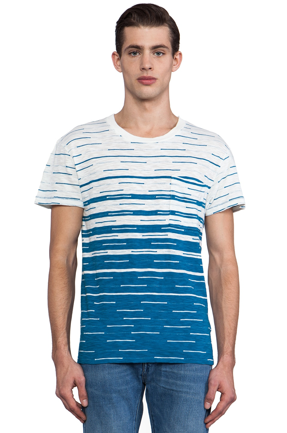 LEVI'S: Made & Crafted Regular Tee in Blue Dash