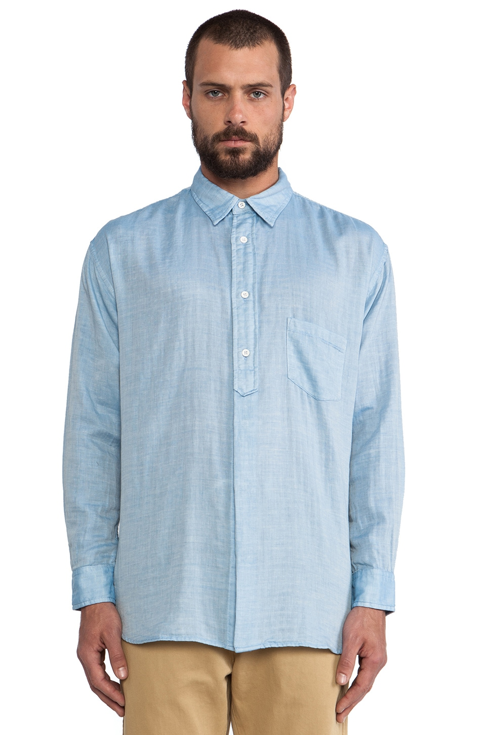 LEVI'S: Made & Crafted Big Shirt in Light Blue