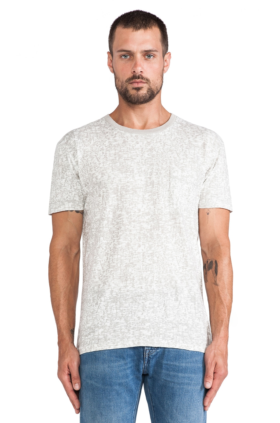 LEVI'S: Made & Crafted Classic Tee in White Mele