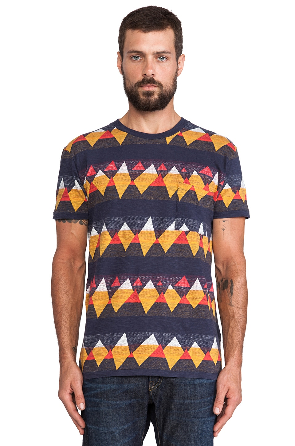 LEVI'S: Made & Crafted Classic Tee in Indigo Mountains