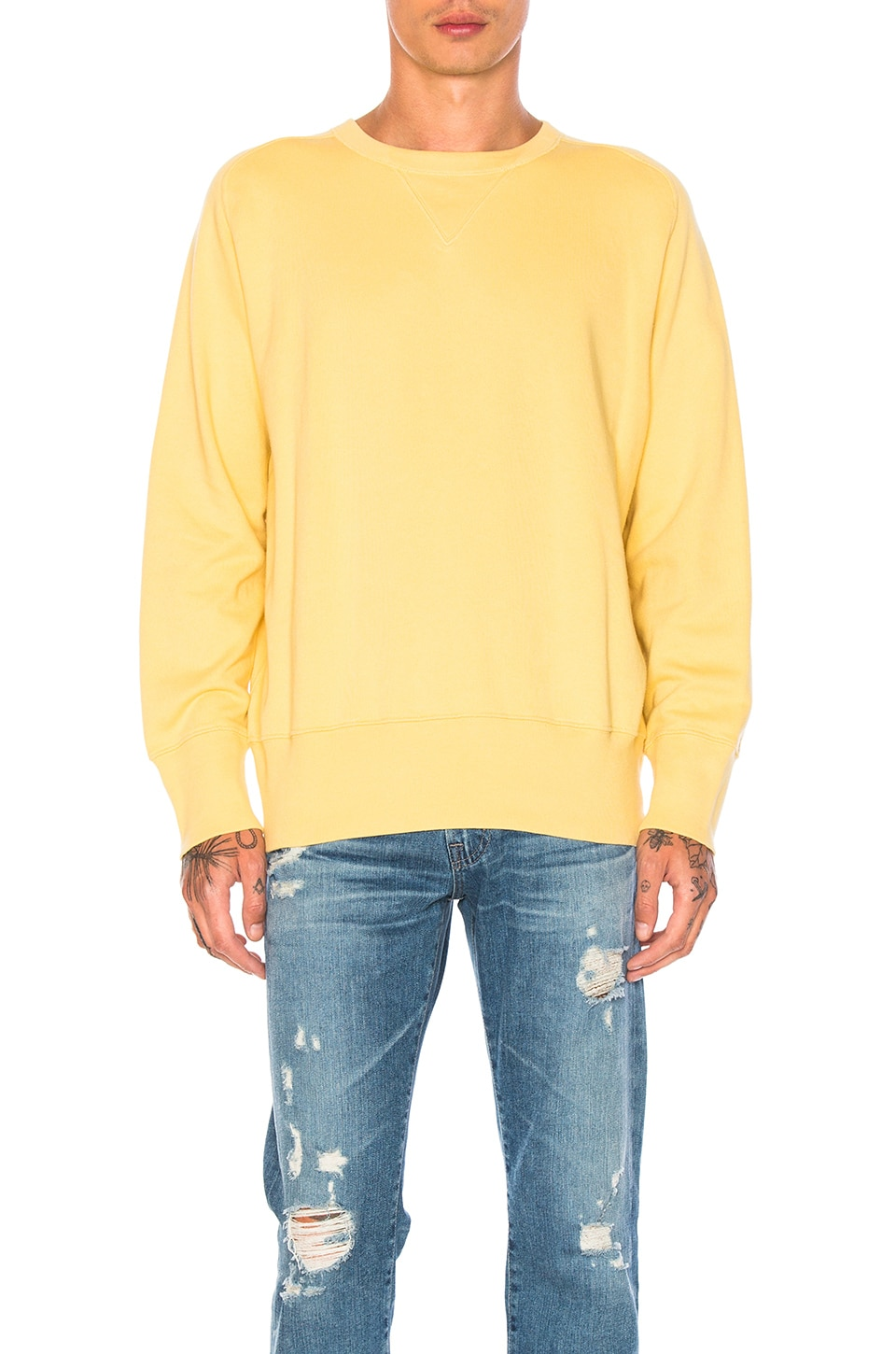 22fab00d LEVI'S Vintage Clothing Bay Meadows Sweatshirt in Faded Banana | REVOLVE