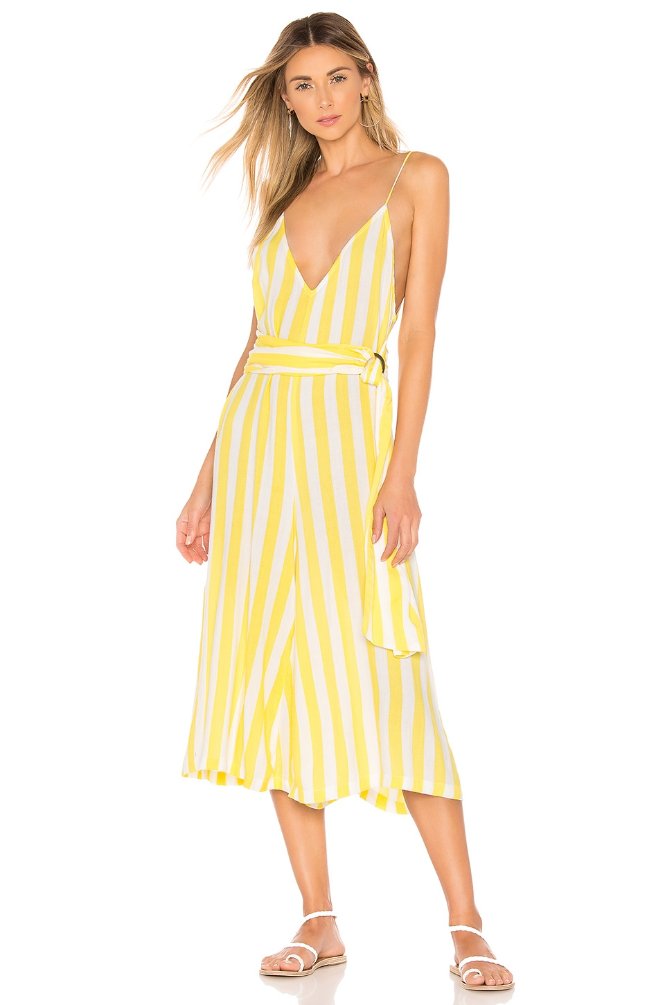 lovewave Milly Jumpsuit in Chartreuse Stripe