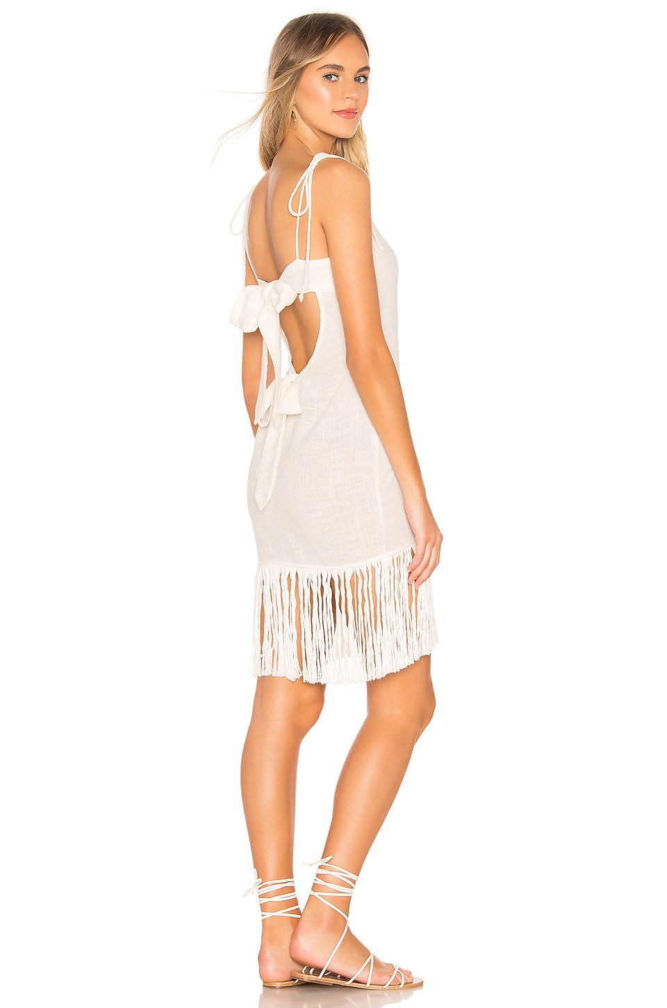 lovewave Wrapped Dress in White