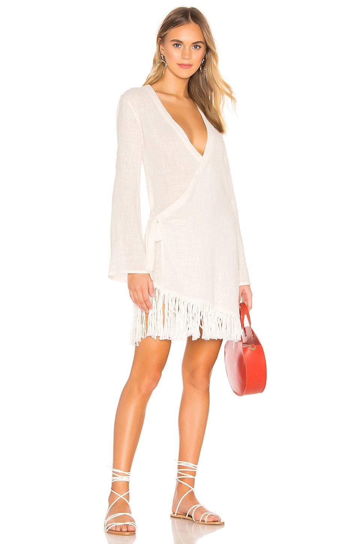 lovewave Synn Wrap Dress in White