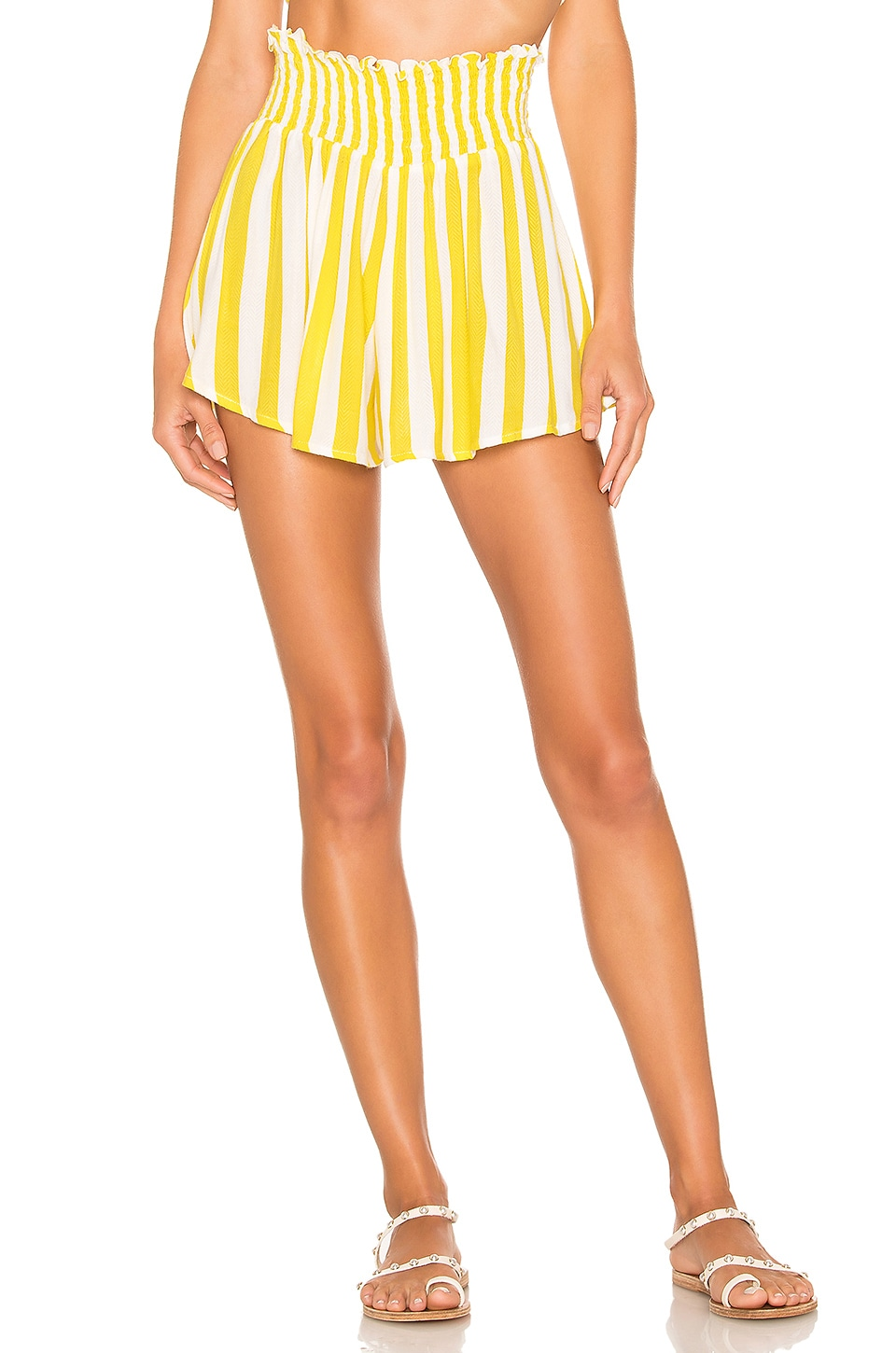 lovewave Milly Short in Chartreuse Stripe