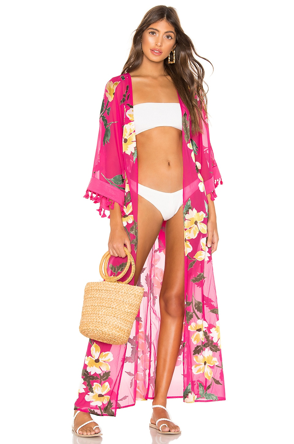 lovewave Hallie Maxi Robe in Pixie Floral