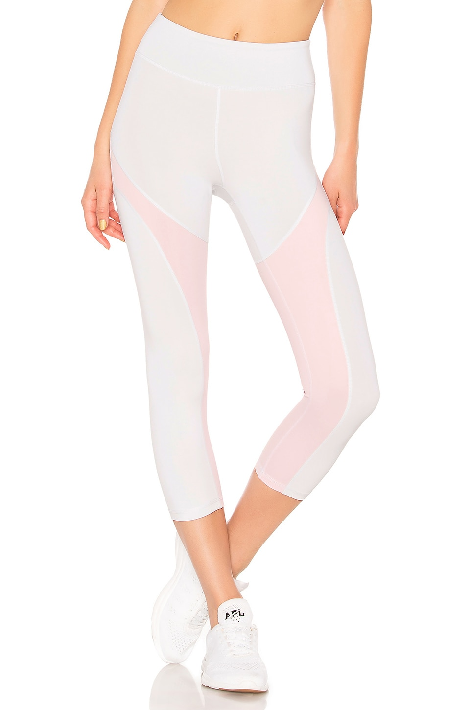 lovewave Madeline Pant in White & Peach Pink