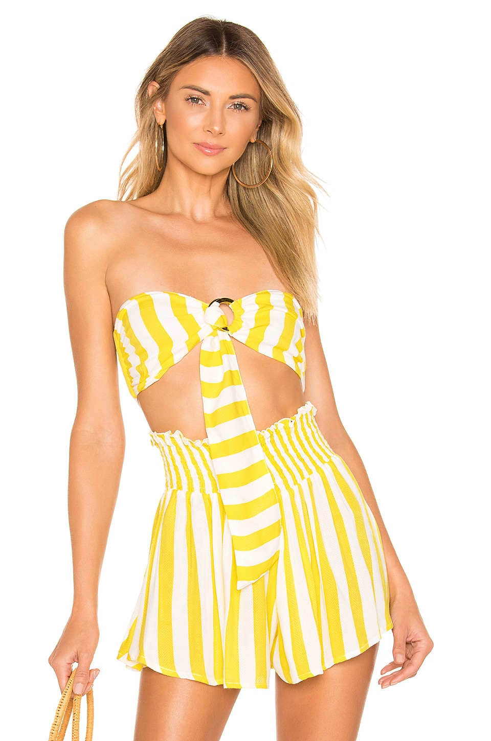 lovewave Milly Top in Chartreuse Stripe