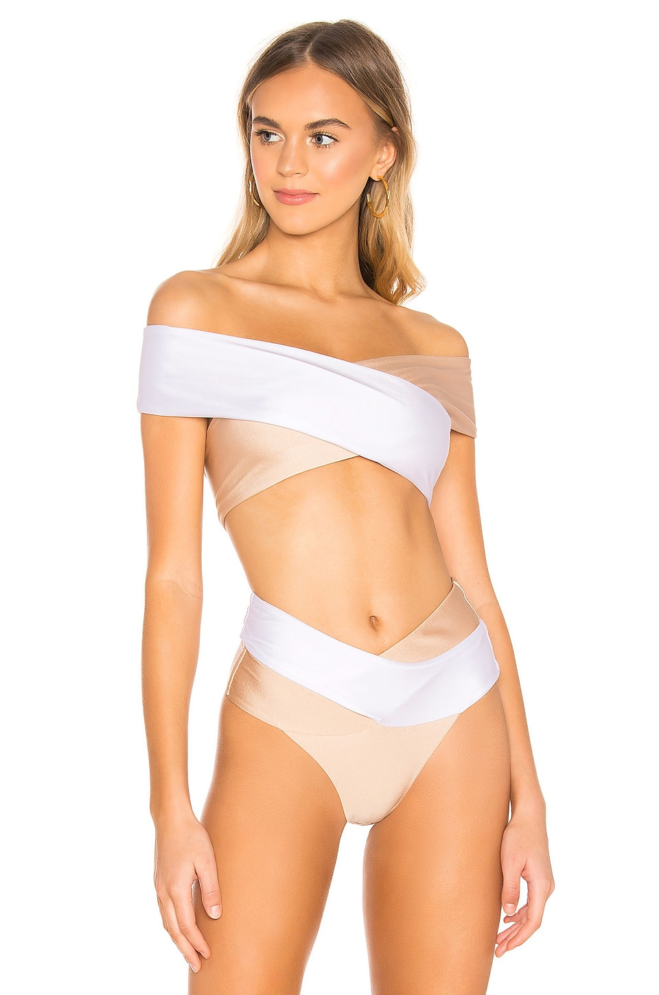 lovewave Gizelle Top in Nude & White