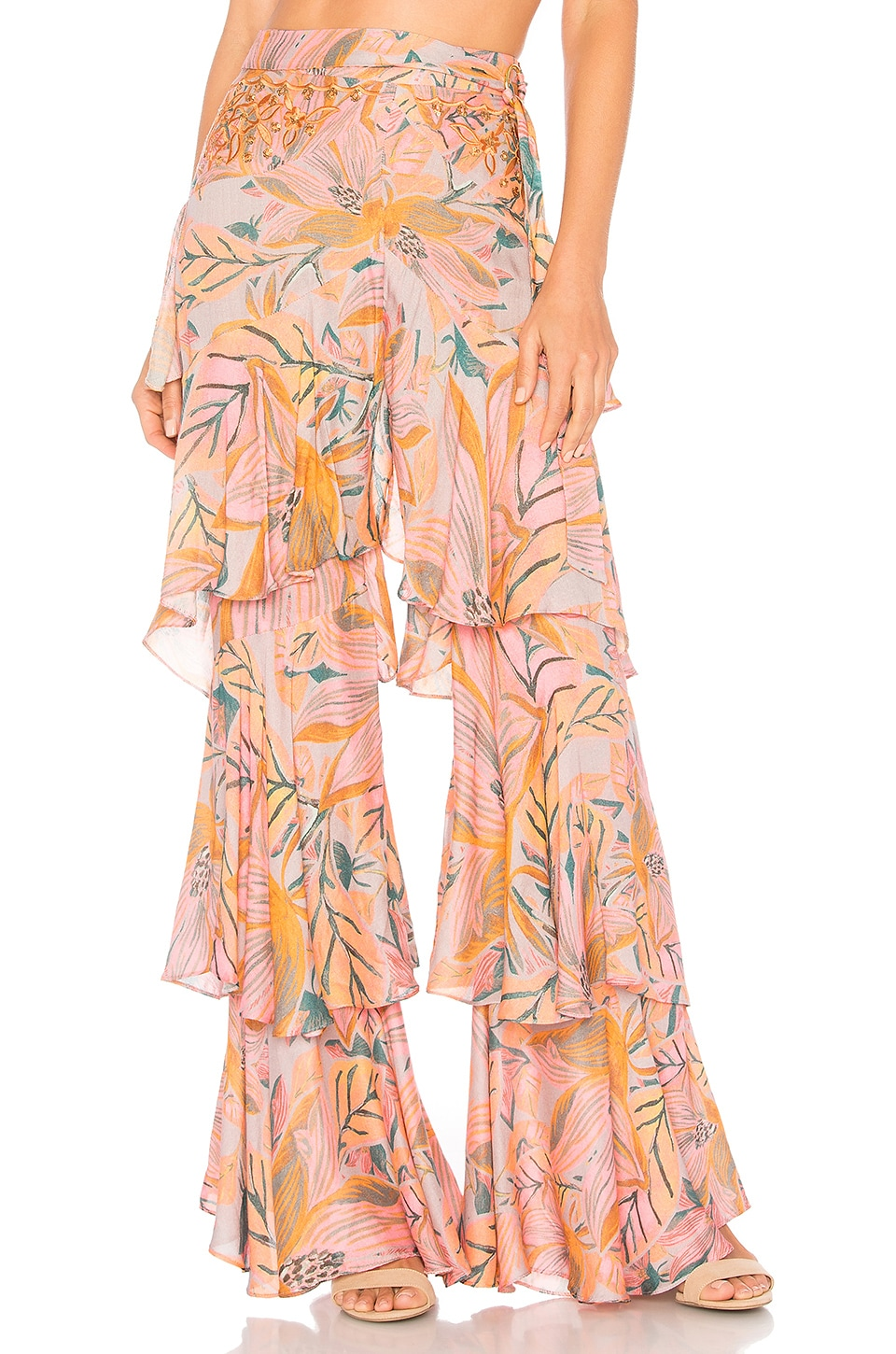 lovewave Bhutan Pant in Golden Floral