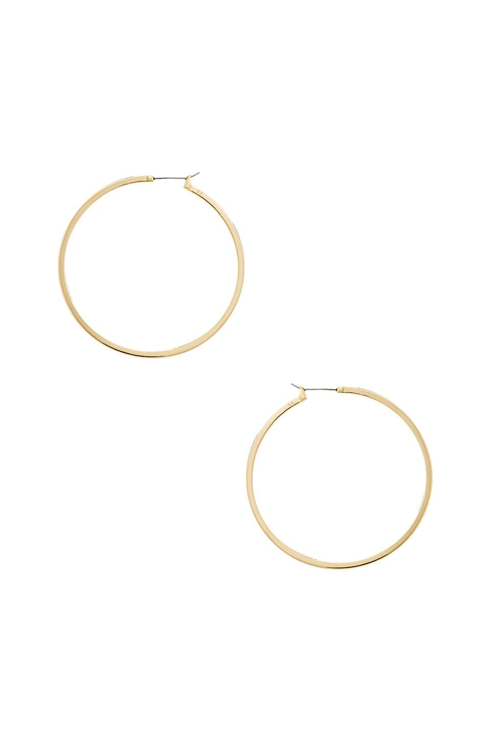 Lisa Freede Large Perfect Hoop Earring in Gold
