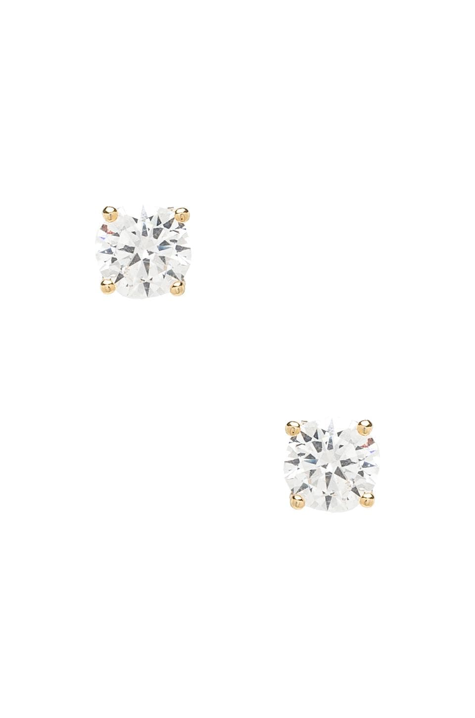 Lisa Freede 2CT Round Cut Stud Earrings in Yellow Gold